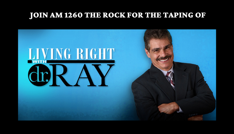 Join us for a live taping with Dr. Ray